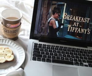 coffee, breakfast, and Breakfast at Tiffany's image