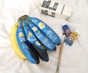art, banana, and paint image
