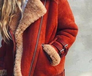 fashion, orange, and winter jacket image