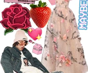 strawberry, roses, and promdress image