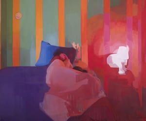 painting, pink, and sleep image