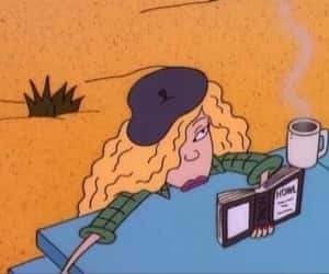 cartoon, debbie, and book image