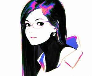 anime girl, art, and blouse image