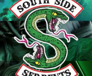 green, pattern, and serpents image