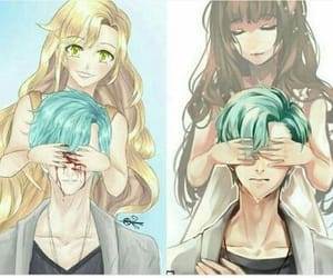 v, mystic messenger, and Mc image