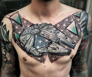star wars, millennium falcon, and star wars tattoo image