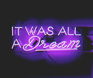 neon, Dream, and light image