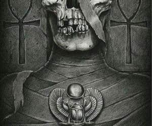 drawing, mummy, and pharaoh image