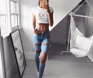 beauty, fitness, and outfit image