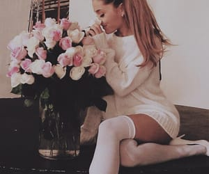 flowers, moonlight, and ariana image