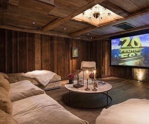 home, cinema, and luxury image