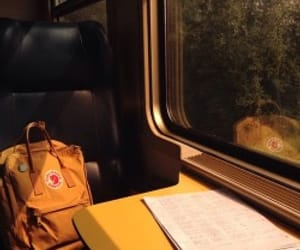 yellow, train, and travel image