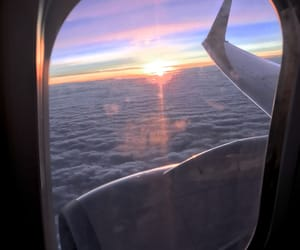 fly, plane, and sky image