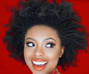 black women, makeup, and natural hair image