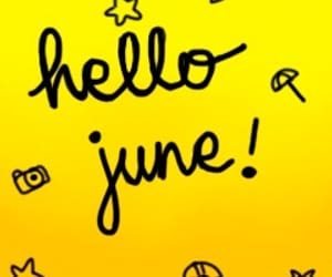 june, lettering, and yellow image