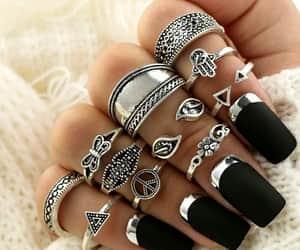 boho, ring, and fashion image
