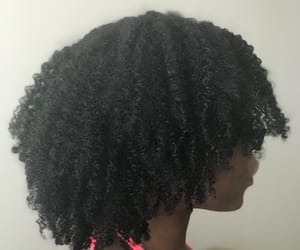 curly hair, natural hair, and black girls image