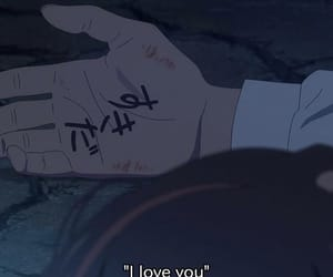 anime, your name, and I Love You image