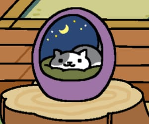 cat, kawaii, and neko atsume image