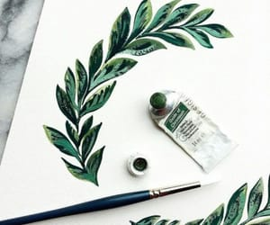art, green, and paint image