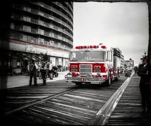 boardwalk, firetruck, and rescue image
