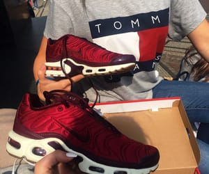 beauty, tommy hilfiger, and burgundy image