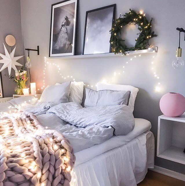 bed, bedroom, and comfort image