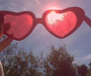 aesthetic, red, and heart image