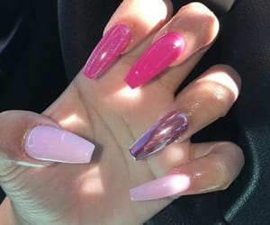 claws, coffin nails, and pink image