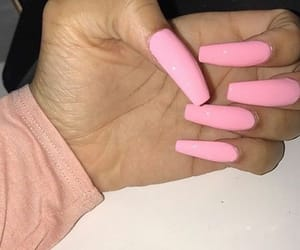 claws, long nails, and pink image