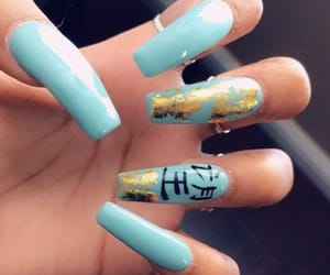 blue nails, design, and claws image