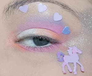 unicorn, eye, and pink image