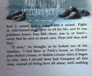 book, rain, and water image