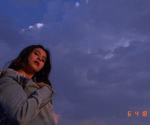 blue, clouds, and denim image