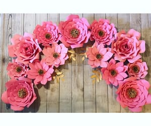 birthday, paper flowers, and paper roses image