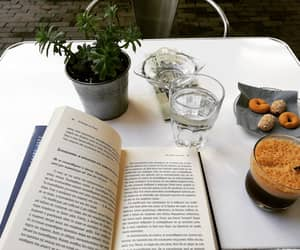 book, summer, and coffee image