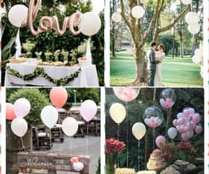 baloons, wedding, and love image