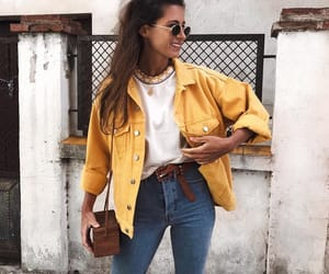 fashion, yellow, and girl image