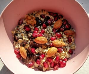 almond, bowl, and colorful image