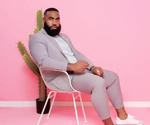 beard, pink, and southern image