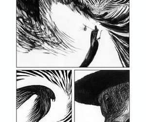 art, dark, and white image