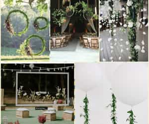 bride, flower power, and decorations image