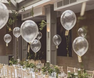 baloons and wedding party image