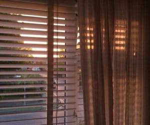 sun, sunset, and window image