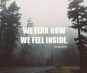 eminem, fear, and quotes image