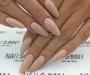 nail polish, nails, and Nude image