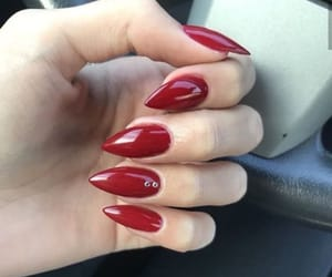 aesthetic, red, and nail image