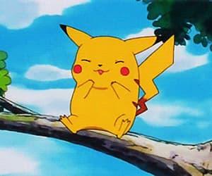 gif, pokemon, and pikachu image