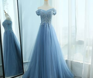 prom dress, tulle, and formal dress image