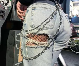 chains, fashion, and jeans image
